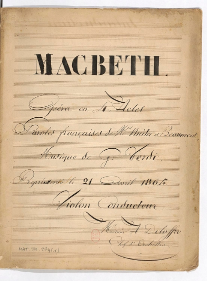 Macbeth violon